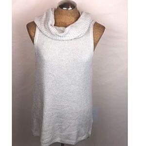 Sonoma sleeveless sweater with cowel neck